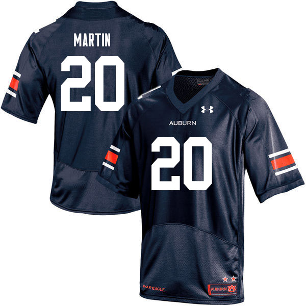 Men #20 Asa Martin Auburn Tigers College Football Jerseys Sale-Navy