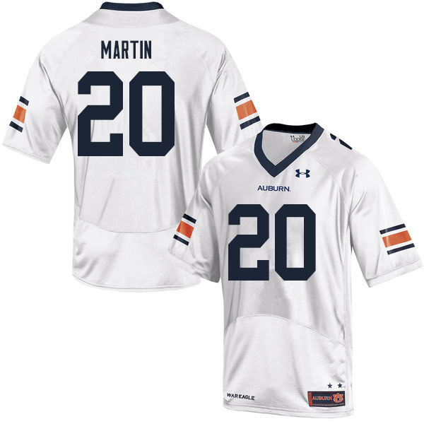 Men #20 Asa Martin Auburn Tigers College Football Jerseys Sale-White