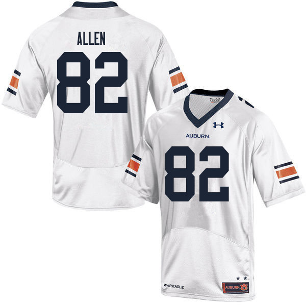 Men #82 Chad Allen Auburn Tigers College Football Jerseys Sale-White