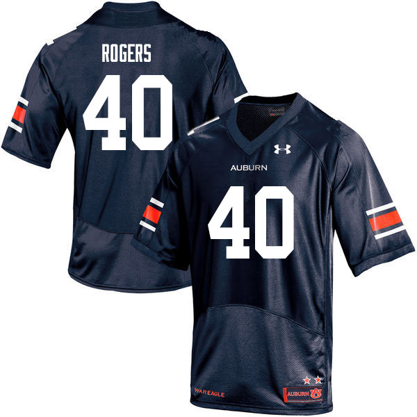 Men #40 Jacob Rogers Auburn Tigers College Football Jerseys Sale-Navy