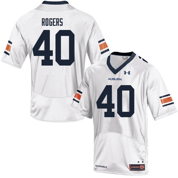 Men #40 Jacob Rogers Auburn Tigers College Football Jerseys Sale-White