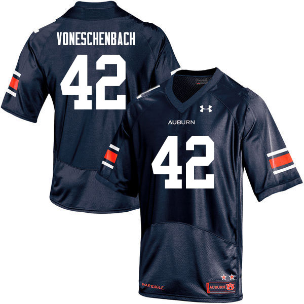 Men #42 Jacob vonEschenbach Auburn Tigers College Football Jerseys Sale-Navy