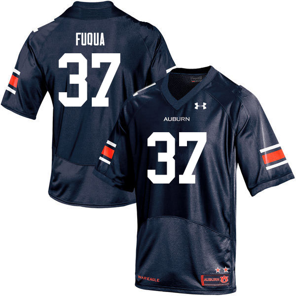 Men #37 Kolbi Fuqua Auburn Tigers College Football Jerseys Sale-Navy