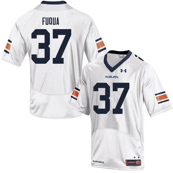 Men #37 Kolbi Fuqua Auburn Tigers College Football Jerseys Sale-White