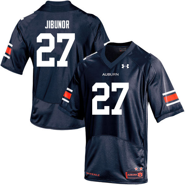 Men #27 Richard Jibunor Auburn Tigers College Football Jerseys Sale-Navy