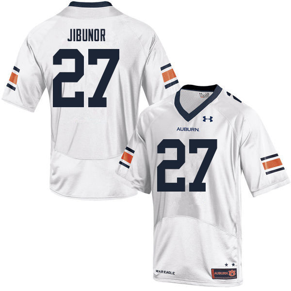 Men #27 Richard Jibunor Auburn Tigers College Football Jerseys Sale-White