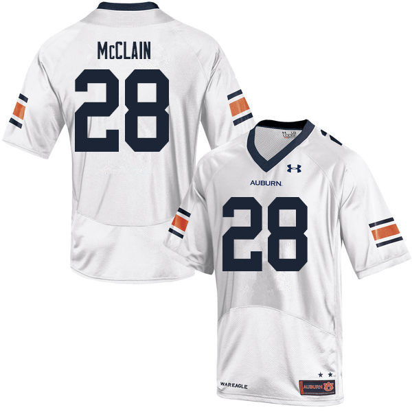 Men #28 Zakoby McClain Auburn Tigers College Football Jerseys Sale-White