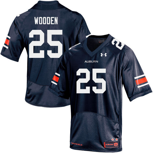 Men #25 Colby Wooden Auburn Tigers College Football Jerseys Sale-Navy