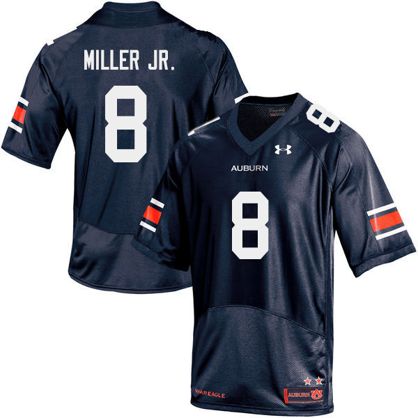 Men #8 Coynis Miller Jr. Auburn Tigers College Football Jerseys Sale-Navy