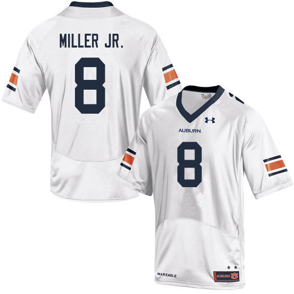 Men #8 Coynis Miller Jr. Auburn Tigers College Football Jerseys Sale-White