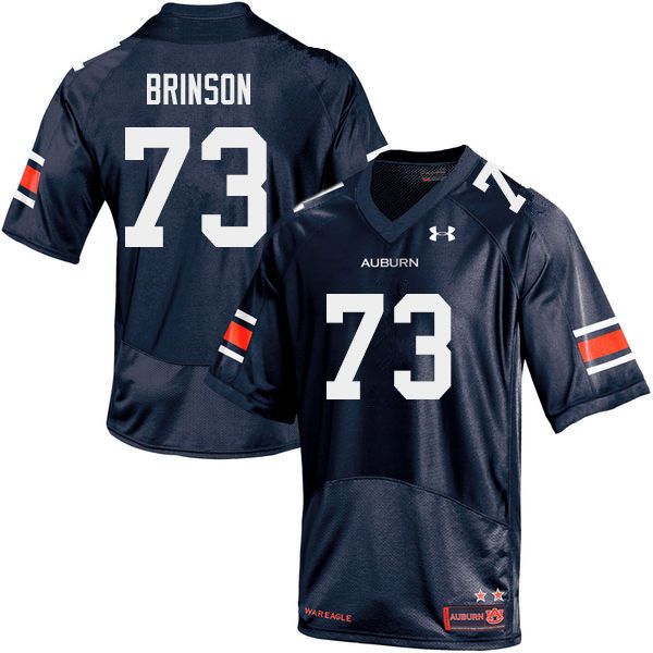 Men #73 Gabe Brinson Auburn Tigers College Football Jerseys Sale-Navy