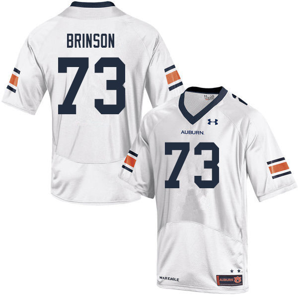 Men #73 Gabe Brinson Auburn Tigers College Football Jerseys Sale-White