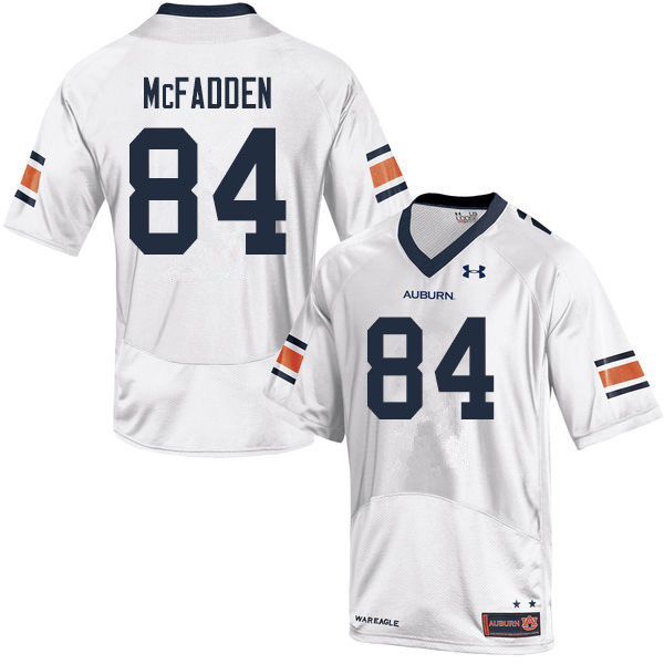 Men #84 Jackson McFadden Auburn Tigers College Football Jerseys Sale-White