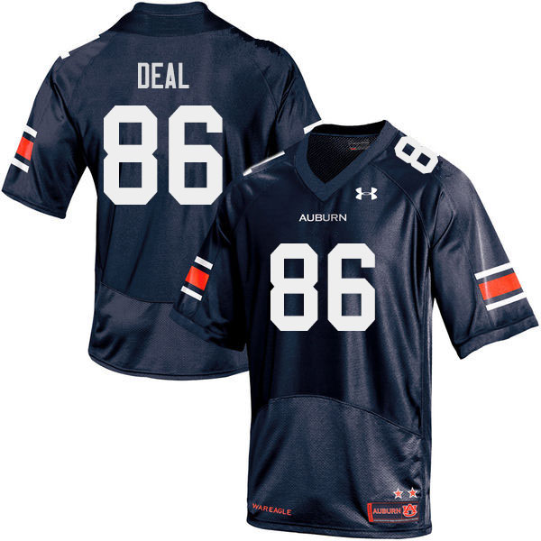 Men #86 Luke Deal Auburn Tigers College Football Jerseys Sale-Navy