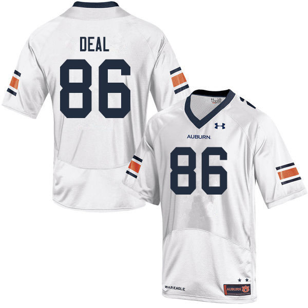 Men #86 Luke Deal Auburn Tigers College Football Jerseys Sale-White