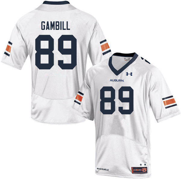 Men #89 Phelps Gambill Auburn Tigers College Football Jerseys Sale-White