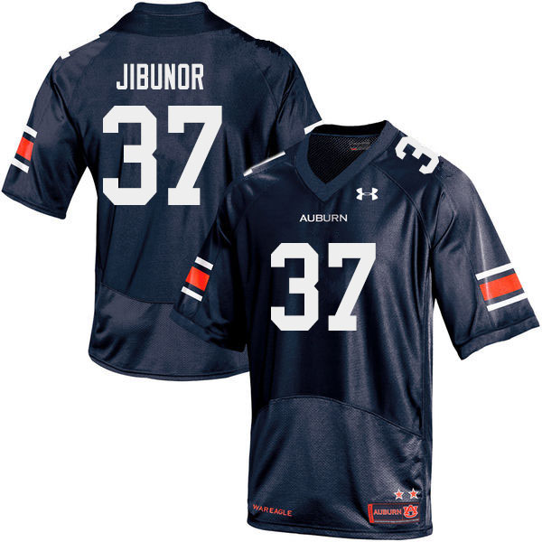 Men #37 Richard Jibunor Auburn Tigers College Football Jerseys Sale-Navy