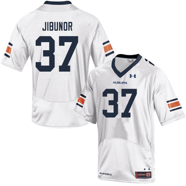 Men #37 Richard Jibunor Auburn Tigers College Football Jerseys Sale-White