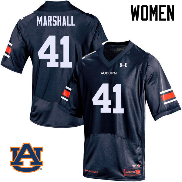 Women Auburn Tigers #41 Aidan Marshall College Football Jerseys Sale-Navy