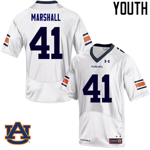 Youth Auburn Tigers #41 Aidan Marshall College Football Jerseys Sale-White