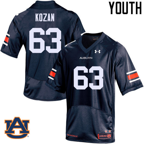 Youth Auburn Tigers #63 Alex Kozan College Football Jerseys Sale-Navy