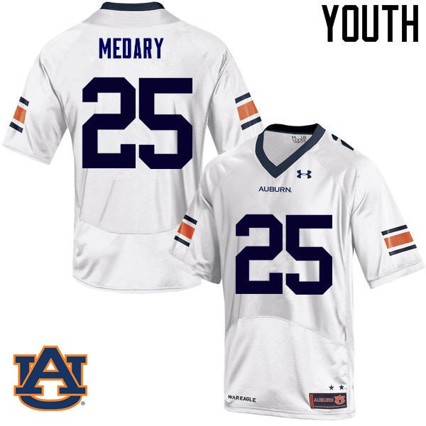 Youth Auburn Tigers #25 Alex Medary College Football Jerseys Sale-White