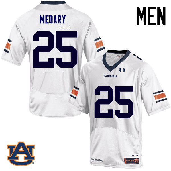 Men Auburn Tigers #25 Alex Medary College Football Jerseys Sale-White