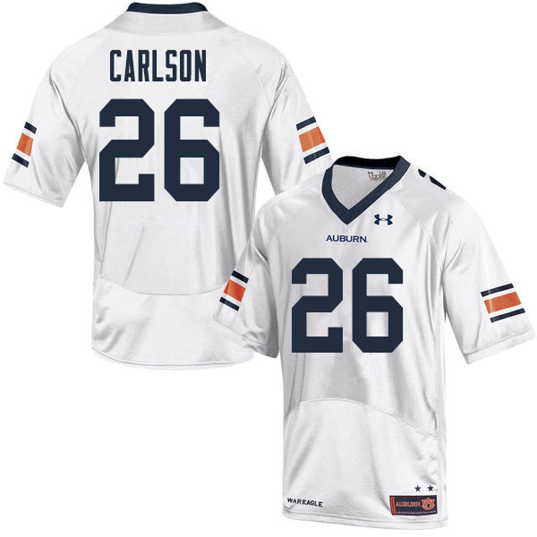 Men Auburn Tigers #26 Anders Carlson College Football Jerseys Sale-White