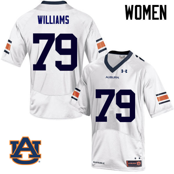 Women Auburn Tigers #79 Andrew Williams College Football Jerseys Sale-White