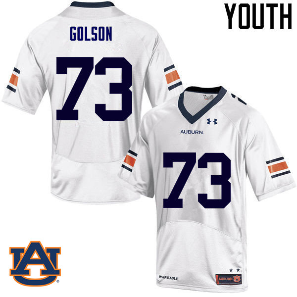 Youth Auburn Tigers #73 Austin Golson College Football Jerseys Sale-White