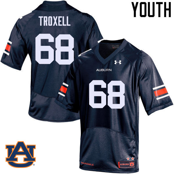 Youth Auburn Tigers #68 Austin Troxell College Football Jerseys Sale-Navy