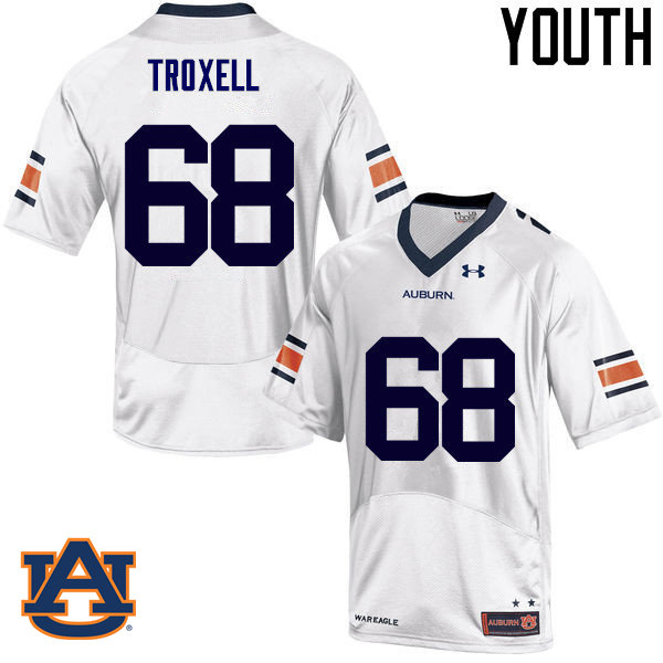 Youth Auburn Tigers #68 Austin Troxell College Football Jerseys Sale-White