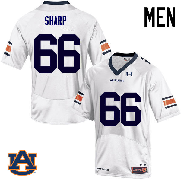 Men Auburn Tigers #66 Bailey Sharp College Football Jerseys Sale-White