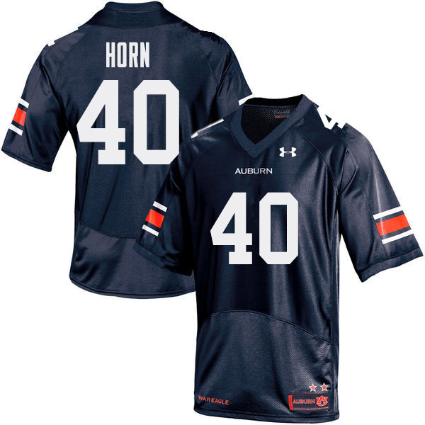 Men Auburn Tigers #40 Beau Horn College Football Jerseys Sale-Navy