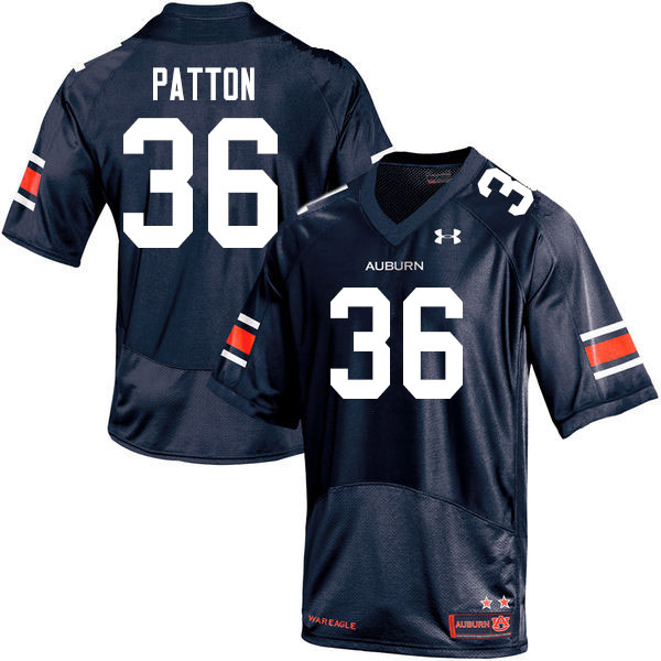 Men #36 Ben Patton Auburn Tigers College Football Jerseys Sale-Navy