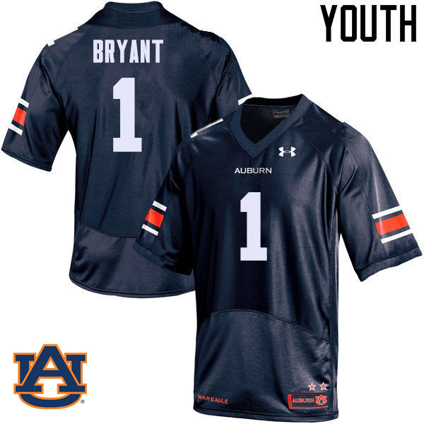 Youth Auburn Tigers #1 Big Cat Bryant College Football Jerseys Sale-Navy