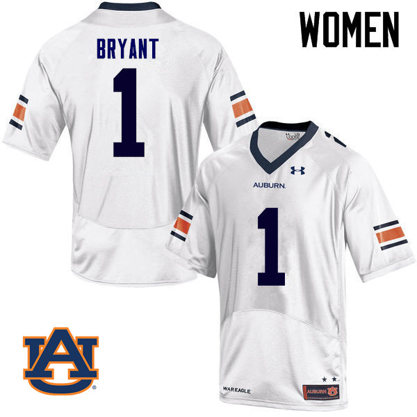 Women Auburn Tigers #1 Big Cat Bryant College Football Jerseys Sale-White