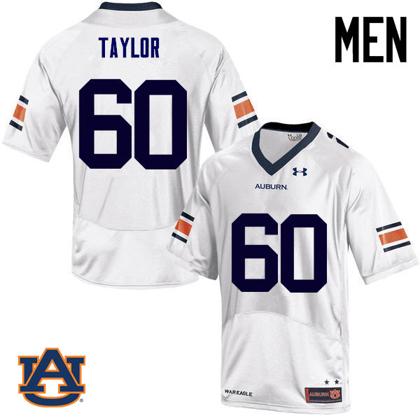 Men Auburn Tigers #60 Bill Taylor College Football Jerseys Sale-White
