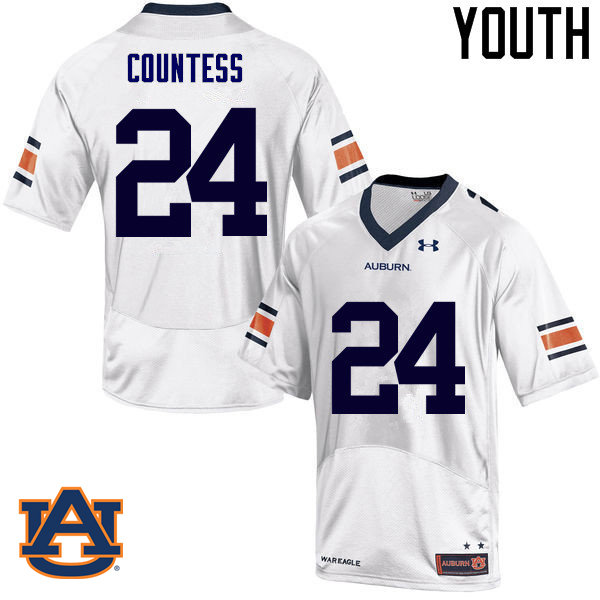 Youth Auburn Tigers #24 Blake Countess College Football Jerseys Sale-White