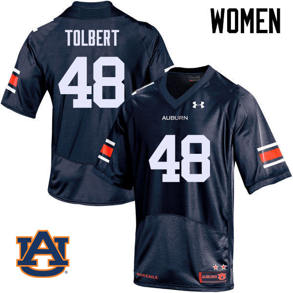 Women Auburn Tigers #48 C.J. Tolbert College Football Jerseys Sale-Navy