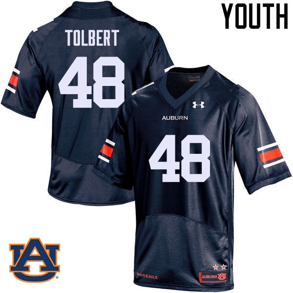Youth Auburn Tigers #48 C.J. Tolbert College Football Jerseys Sale-Navy