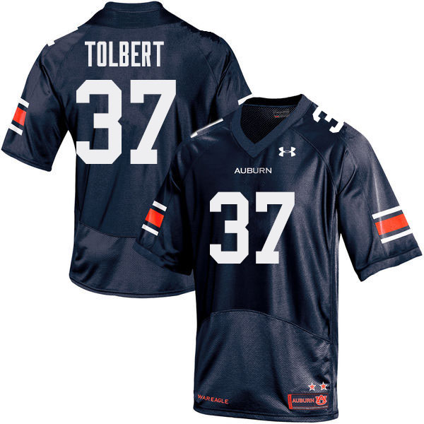 Men Auburn Tigers #37 C.J. Tolbert College Football Jerseys Sale-Navy