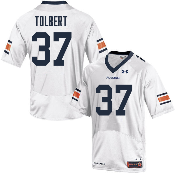 Men Auburn Tigers #37 C.J. Tolbert College Football Jerseys Sale-White