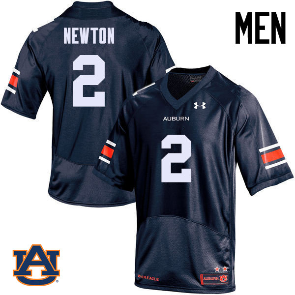 Men Auburn Tigers #2 Cam Newton College Football Jerseys Sale-Navy