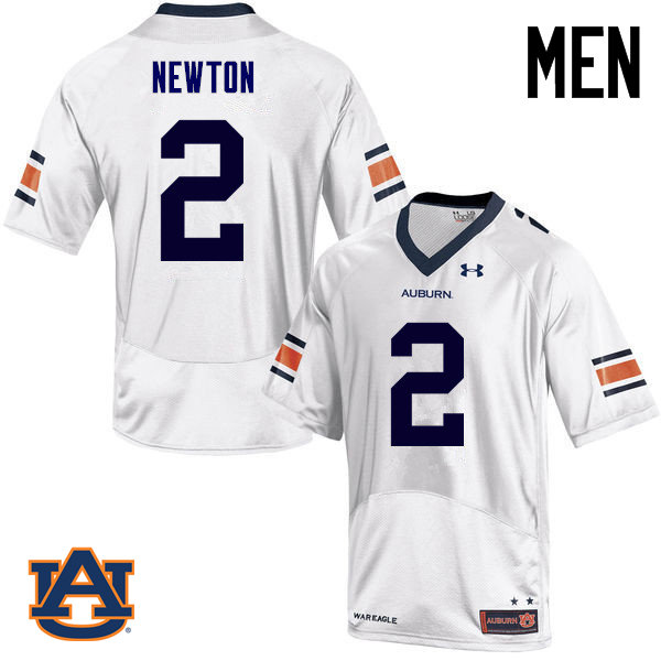 Men Auburn Tigers #2 Cam Newton College Football Jerseys Sale-White