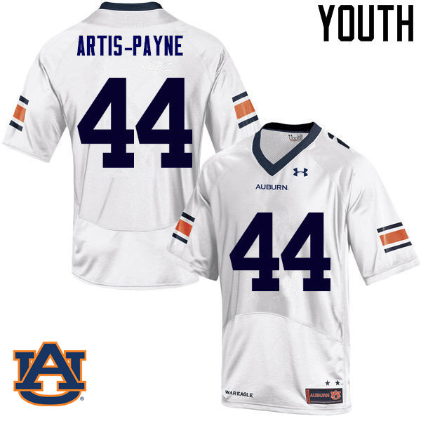 Youth Auburn Tigers #44 Cameron Artis-Payne College Football Jerseys Sale-White