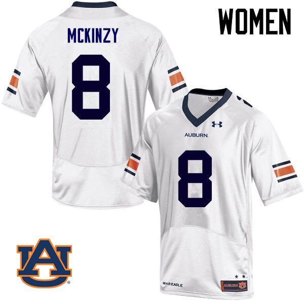 Women Auburn Tigers #8 Cassanova McKinzy College Football Jerseys Sale-White