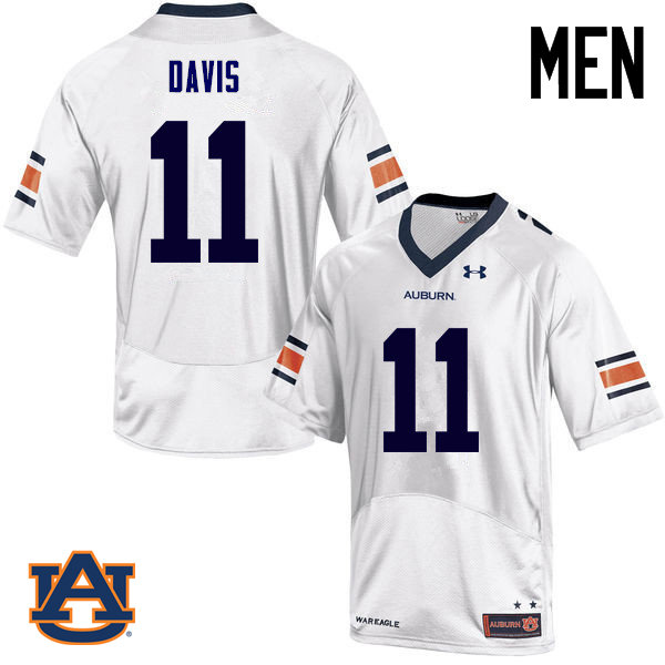 Men Auburn Tigers #11 Chris Davis College Football Jerseys Sale-White