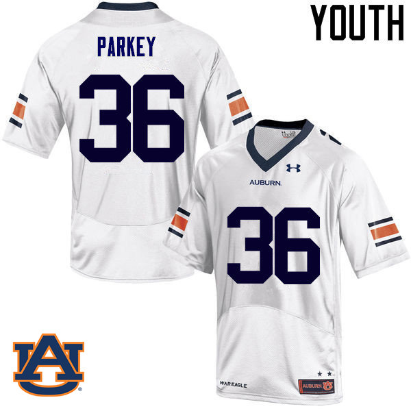 Youth Auburn Tigers #36 Cody Parkey College Football Jerseys Sale-White