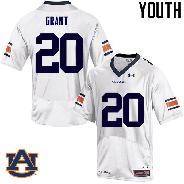Youth Auburn Tigers #20 Corey Grant College Football Jerseys Sale-White